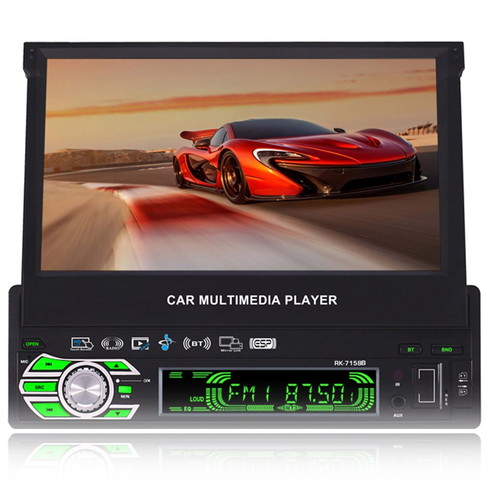 1 DIN Flip Out Car Stereo with Navigation