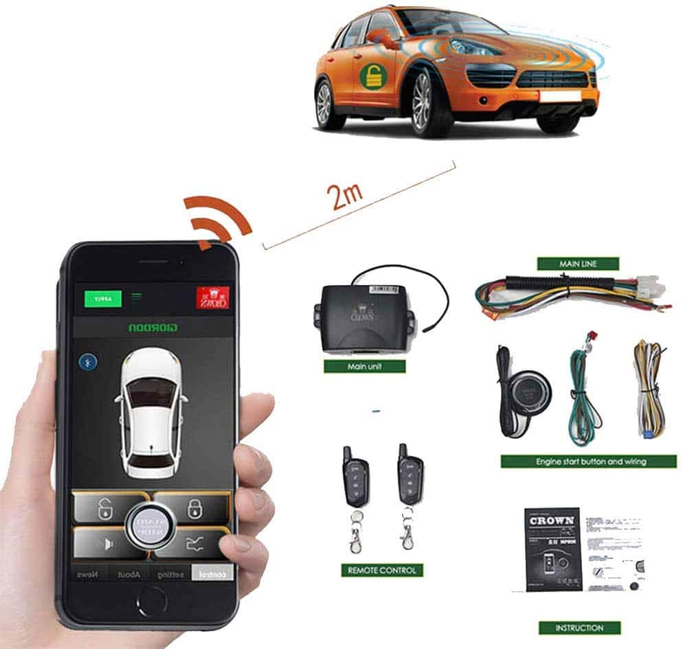 Remote Car Starter 2-way Automatic Car Alarm System