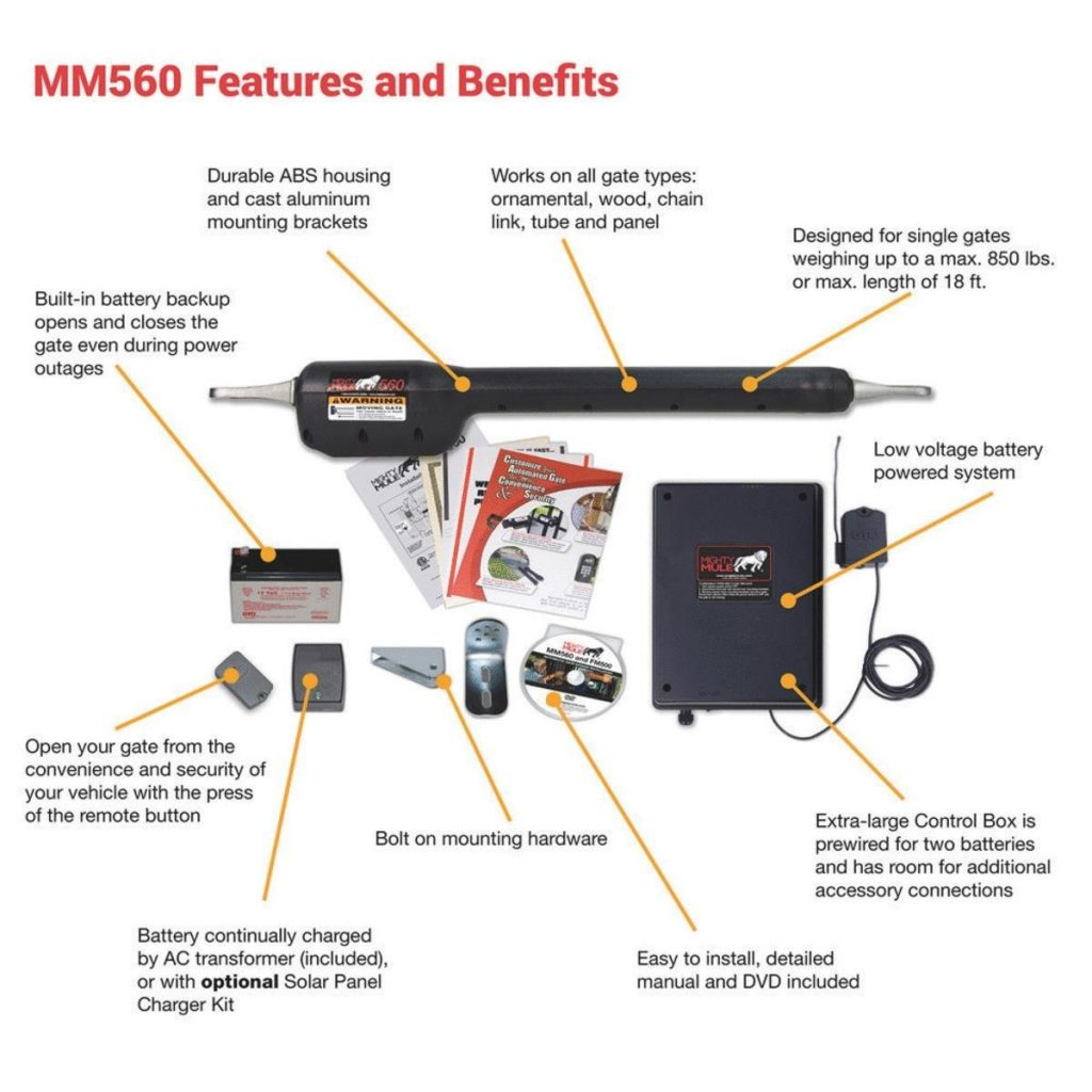 Mighty Mule Single Gate Opener Features