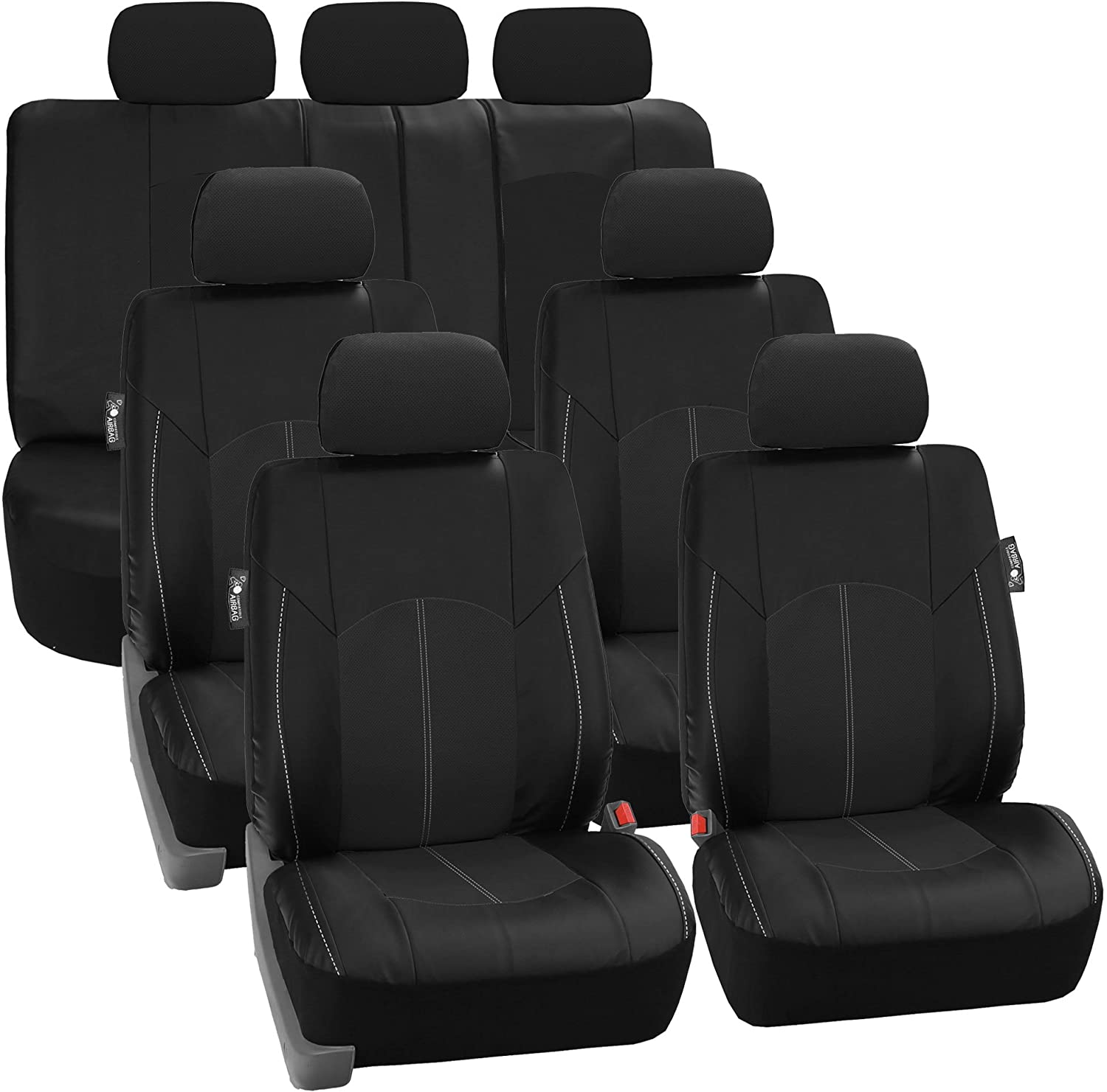 FH Group Perforated Leatherete Seat Covers
