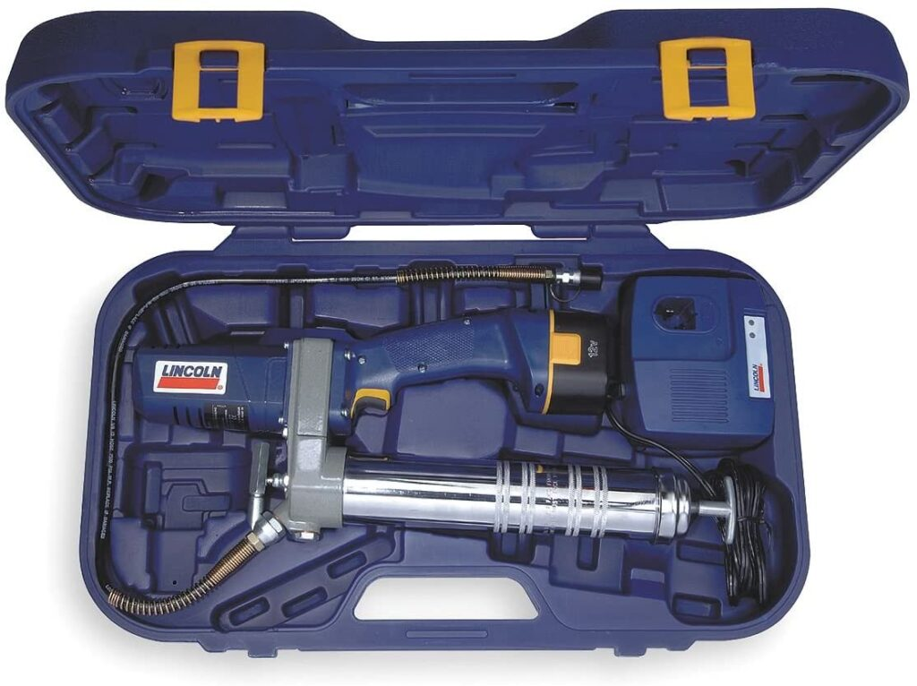 This image has an empty alt attribute; its file name is Lincoln-PowerLuber-Cordless-Grease-Gun-Kit-1024x766.jpg