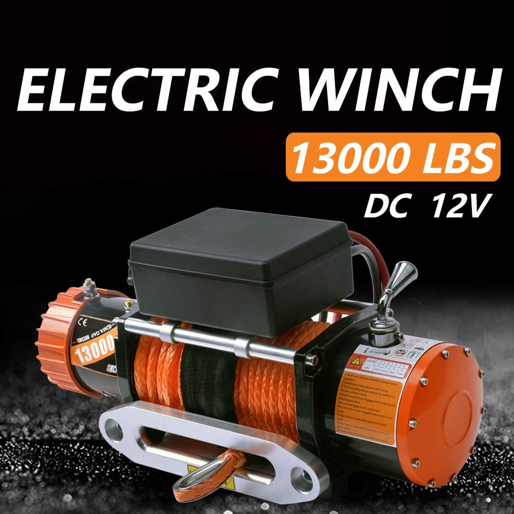 ORCISH 12V Waterproof Synthetic Rope Winch