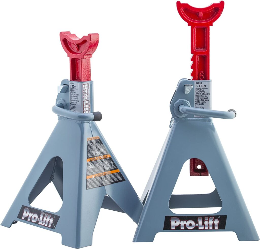 This image has an empty alt attribute; its file name is Pro-LifT-T-6906D-Double-Pin-Jack-Stand-1024x980.jpg