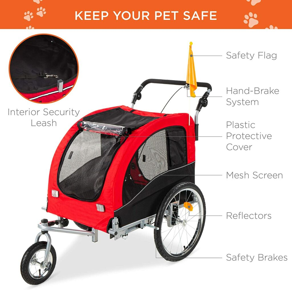 Best Choice Products 2-in-1 Pet Trailer